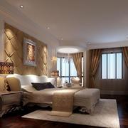 欧式复式楼卧室背景墙装修