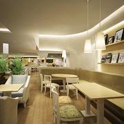 甜品店创意木制桌椅设计