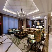 别墅奢华欧式客厅装饰