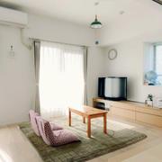 日式公寓简约电视柜装修