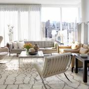 复式楼简约风格客厅沙发装饰