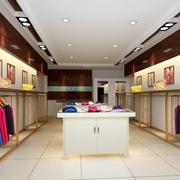 中式简约风格服装店吊顶设计