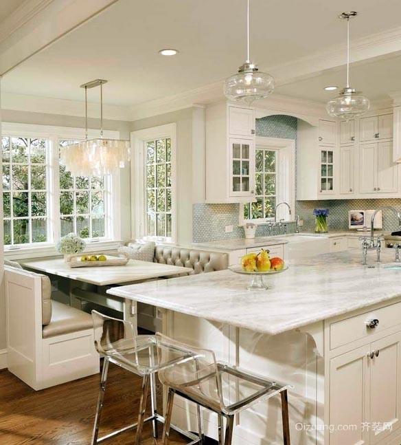 2015能够显出品味的欧式大厨房装修效果图