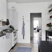 后现代风格一字型公寓厨房