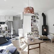 简约风格公寓客厅书柜设计