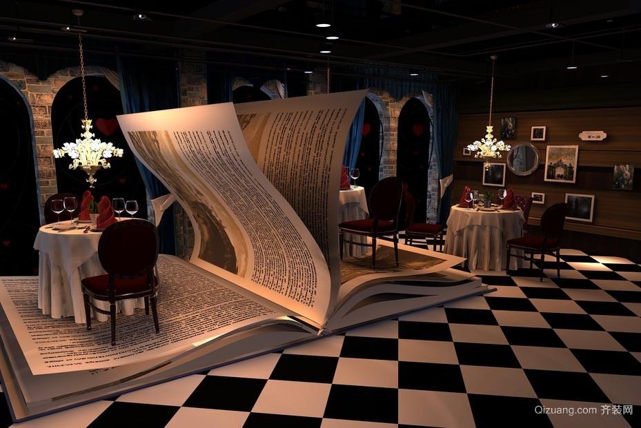 有钱人士会去的高级西餐厅室内装修设计效果图
