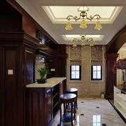 欧式简约白色瓷砖吧台设计