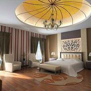 东南亚风格室内卧室大型吊顶