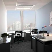 办公室简约风格吊顶效果图