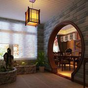 中式花园拱形门设计