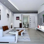 极度现代化3d室内墙饰装修