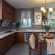 别墅中式开放式厨房