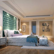 大型别墅卧室软包墙饰