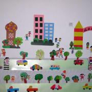 幼儿园卡通风格背景墙装饰