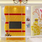 现代简约风格亮色电视背景墙