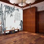 古色古香艺术感背景墙装饰