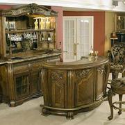古典风格原木吧台装饰