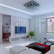 现代简约风格电视墙屏风装饰