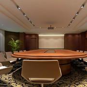 欧式简约风格会议室吊顶装修