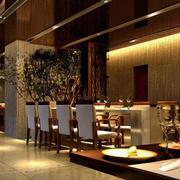欧式奢华风格西餐厅效果图