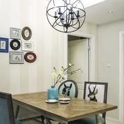 两室一厅后现代风格餐厅桌椅设计