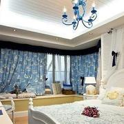 地中海风格奢华卧室背景墙装饰