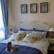 地中海风格简约风格卧室背景墙