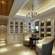 别墅大型欧式酒柜装修