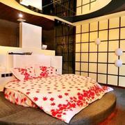 简约风格酒店卧室背景墙设计