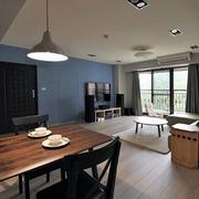 后现代风格家装客厅地板设计