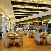 欧式奢华大型西餐厅效果图