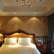 欧式风格奢华暖色卧室壁纸设计