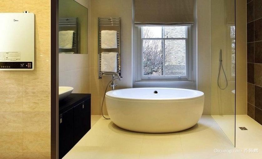 别墅干净整洁的整体卫生间装修效果图