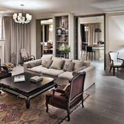 别墅欧式简约客厅装修