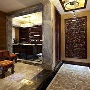 中式风格门口大理石