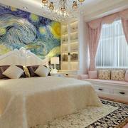 欧式风格卧室飘窗设计