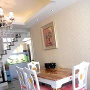 简约风格复式楼餐厅设计