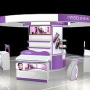 圆形紫色展柜装饰