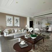 法式风格家装沙发背景墙