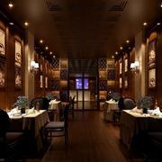 后现代深色西餐厅装饰