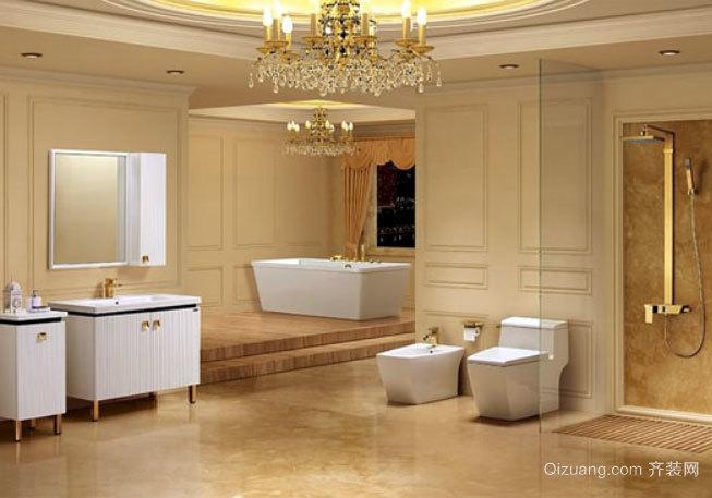 整体方便设计:2015现代简约整体卫生间装修效果图