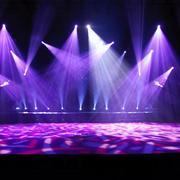 紫色系舞台灯光设计