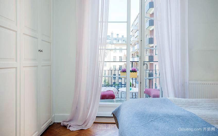 简欧风格卧室飘窗装修效果图大全