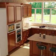 红木深色厨房装饰