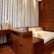 日式原木榻榻米床睡觉