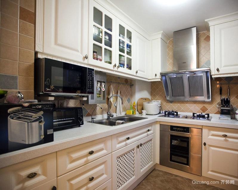 90平米大户型欧式开放式厨房装修效果图欣赏大全