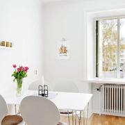 田园风格简约餐厅白色桌椅设计