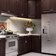 欧式深色系厨房效果图