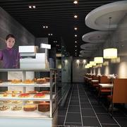 甜品店玻璃柜台设计