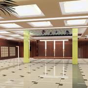 简约后现代风格酒店大厅效果图